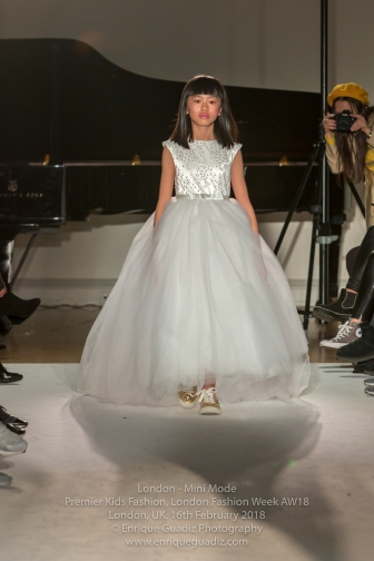 London, UK. 16th February 2018. Mini Mode, London's Premier Kids Fashion Week 2018.Credit: Enrique Guadiz/Alamy Live News